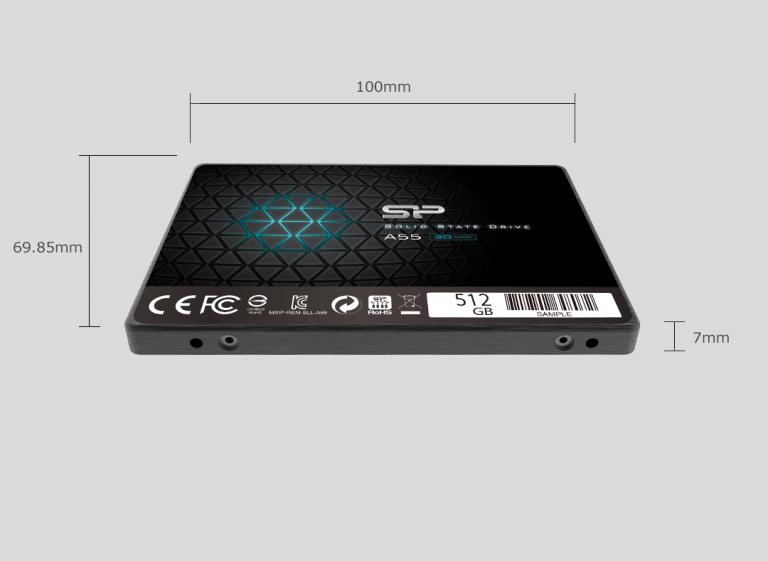 اس اس دی اینترنال سیلیکون پاور مدل A55 ظرفیت 512 گیگابایت